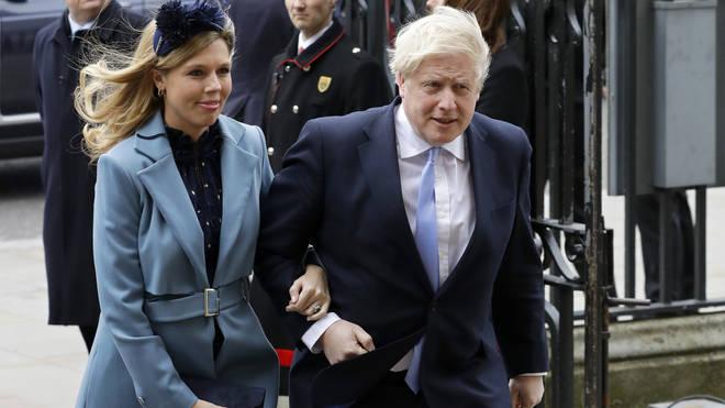 Boris Johnson and his fiancé Carrie Symonds
