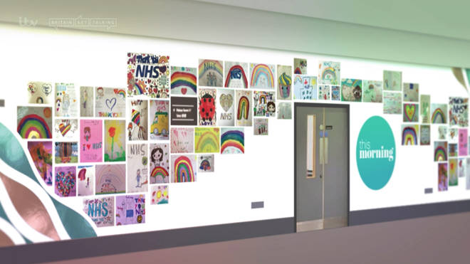 This Morning mocked up what the wall would look like with digital images