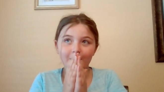 Aubrey, 9, was left shocked at the Hamilton surprise