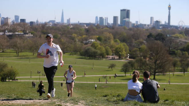 The UK public can exercise outdoors once a day