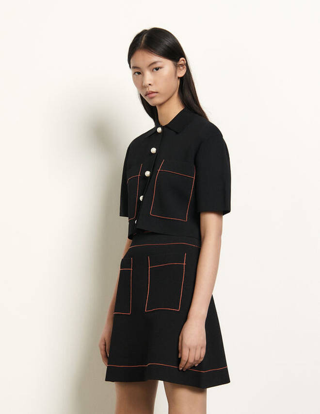 Knitted skirt from Sandro Paris