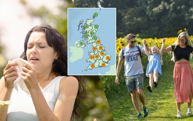 Hayfever sufferers will feel the wrath of the pollen