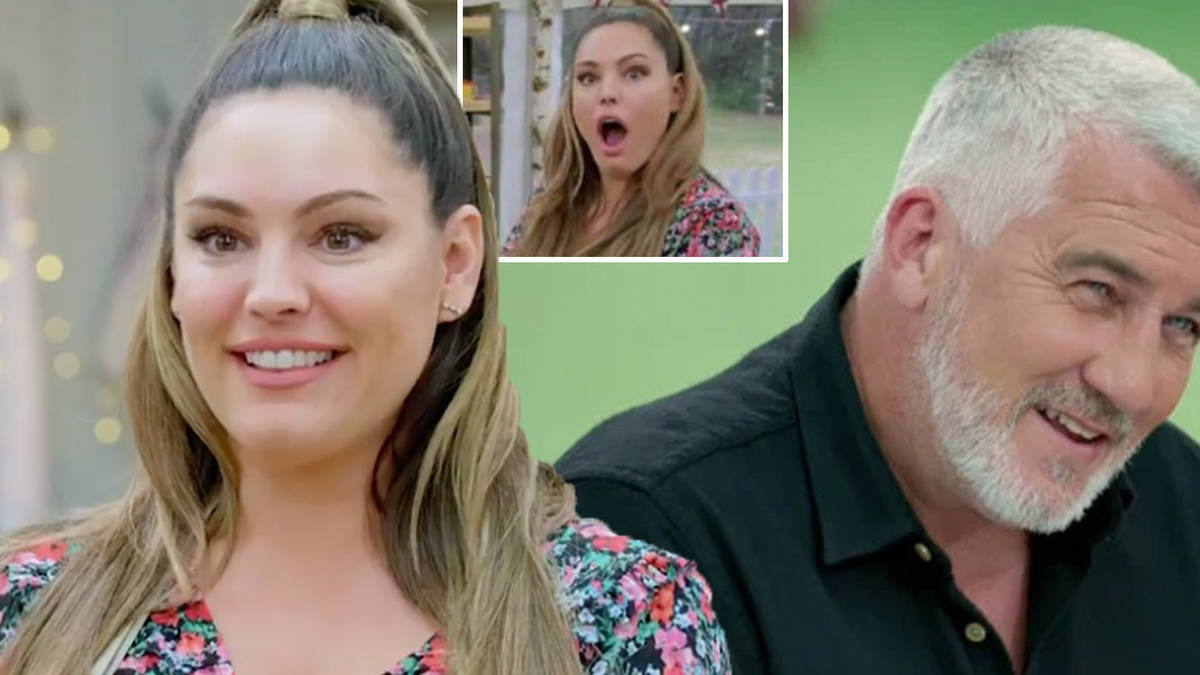 Paul Hollywood can't stop grinning as Heart's Kelly Brook makes cheeky bath time admission on Celebrity Bake Off