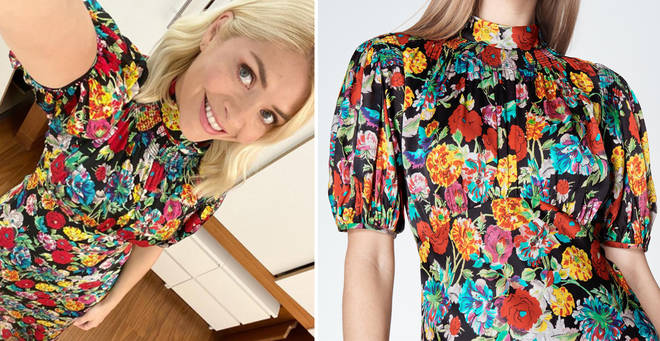 Get Holly Willoughby's printed midi dress