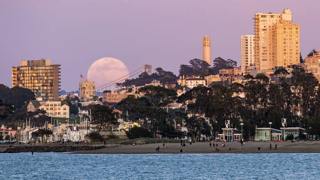 Beautiful images show the Super Moon across the world, including here, San Francisco