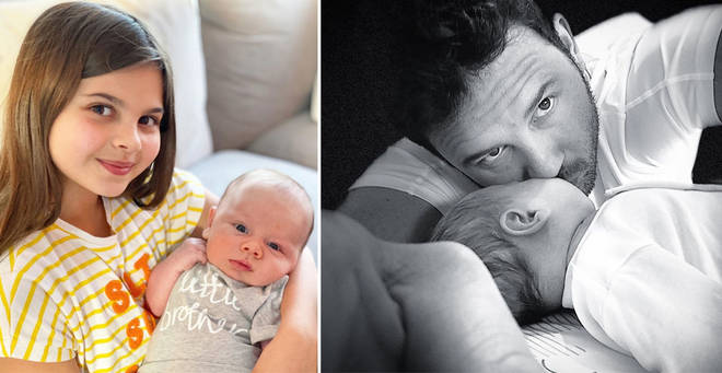 Ryan Thomas' daughter Scarlett met her baby brother for the first time