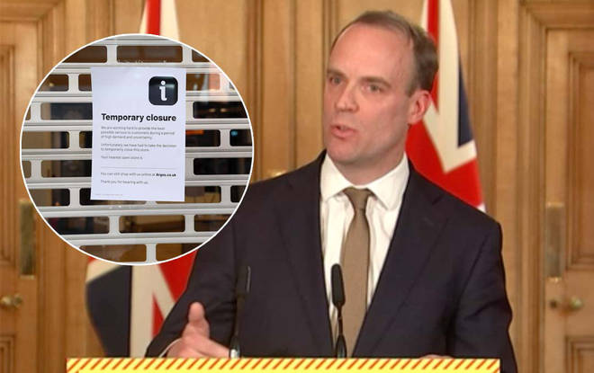 Raab led today's COVID-10 briefing