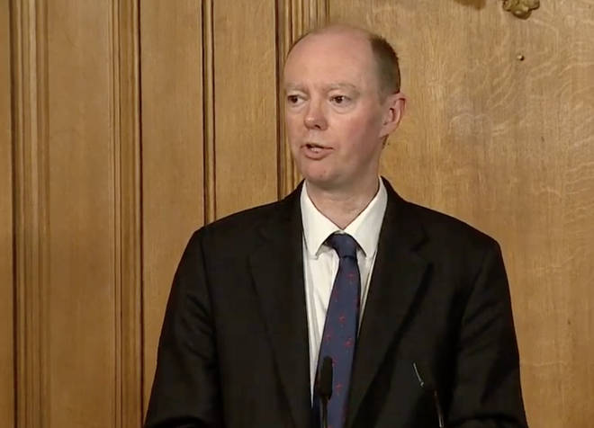 Chief Medical Officer, Professor Chris Whitty also spoke today