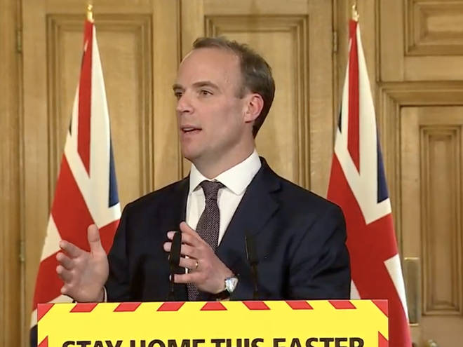 Dominic Raab addressed our lockdown measures today