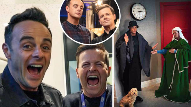 Ant and Dec recreated The Arnolfini Portrait by Dutch artist Jan van Eyck.