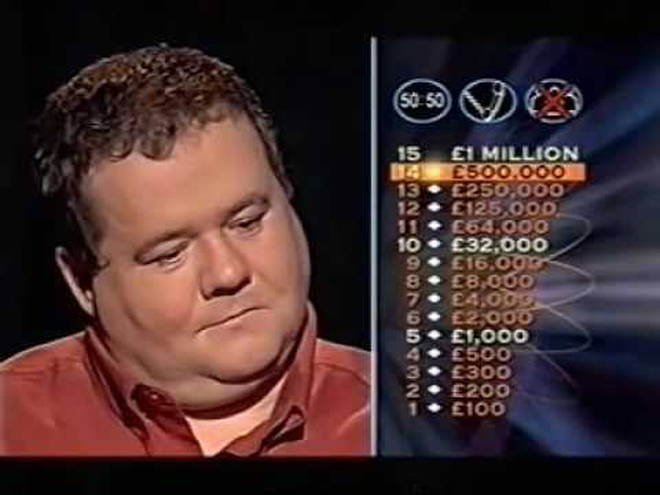Pat Gibson appeared on Who Wants To Be A Millionaire in 2004