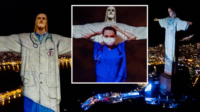 Brazilian city Rio de Janeiro took their opportunity to thank healthcare workers all around the world by lighting up their famous Christ the Redeemer statue