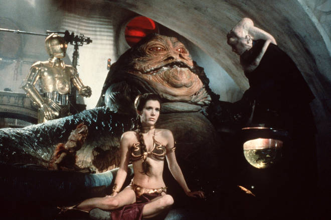 The Return of the Jedi sees the famous scene with Princess Leia and Jabba