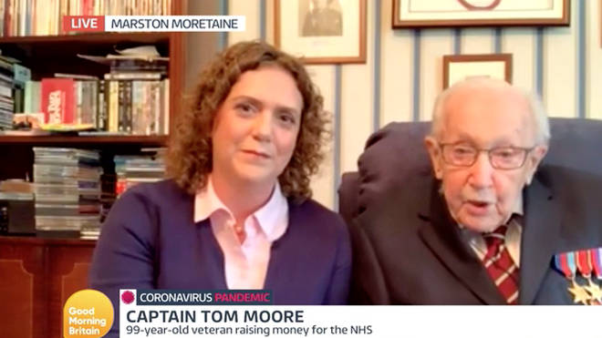 Tom Moore appeared on GMB with his daughter  Hannah.