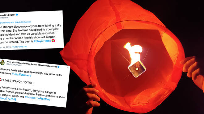 Brits have been urged not to release sky lanterns
