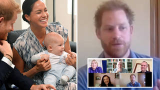 Prince Harry gives glimpse into his family are dealing with coronavirus pandemic as he video calls families from LA home