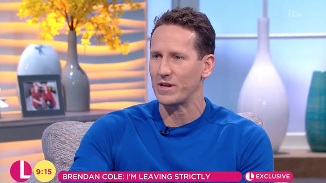 Brendan Cole revealed to Lorraine his contract with the show had not been renewed