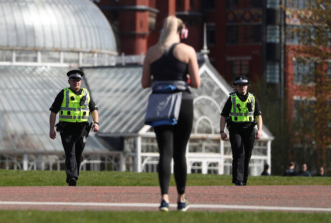 The UK public are allowed to leave the house for exercise on a day