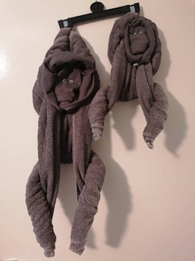 Lauren Worthington revealed her towel folding hack