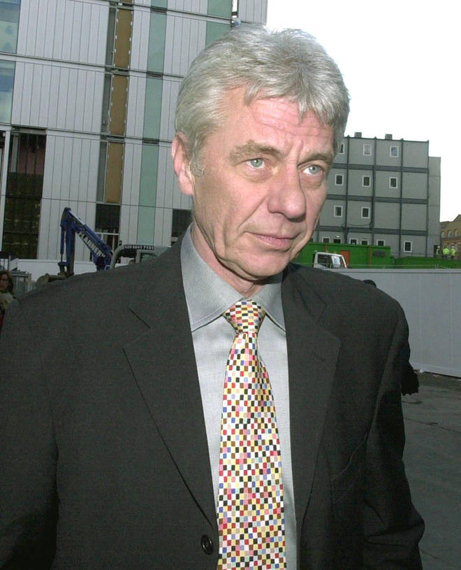 David pictured in 2003 at the court case of Charles Ingram