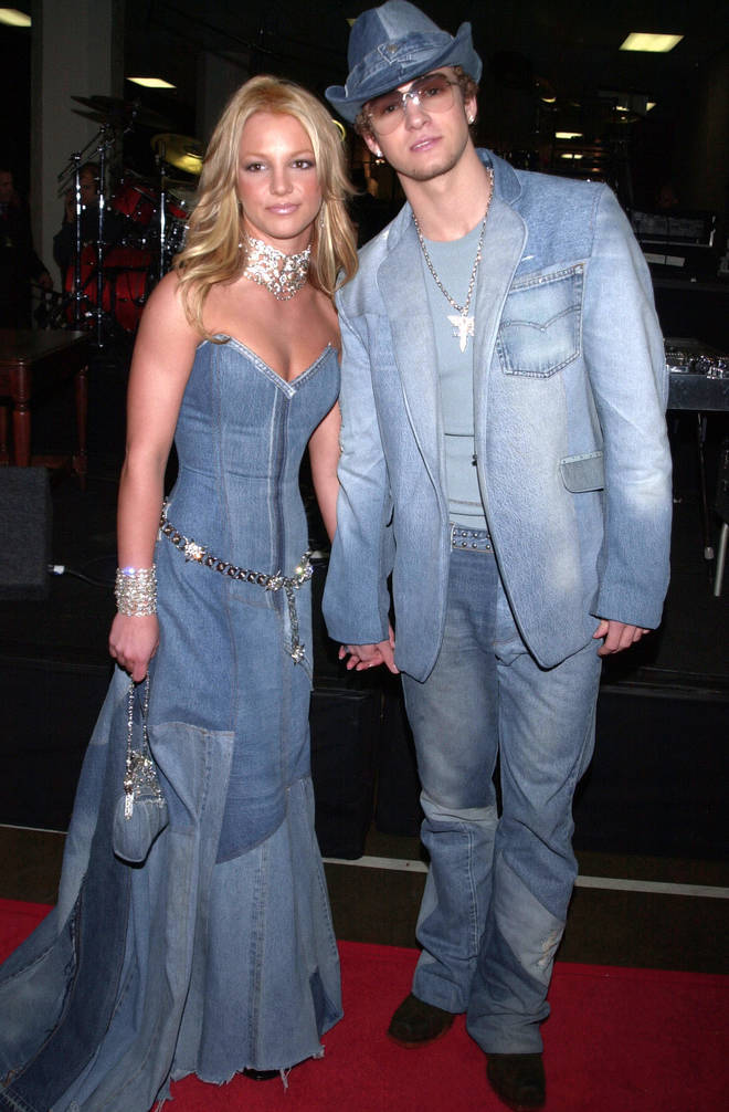 Britney Spears and Justin Timberlake made history in this daring double denim look