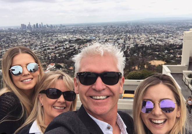 Phillip Schofield said his wife and daughters had been supporting him when he came out on This Morning