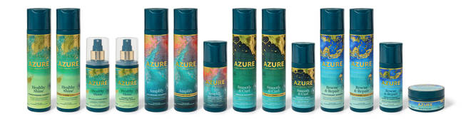 The Azure range is designed for all types of hair