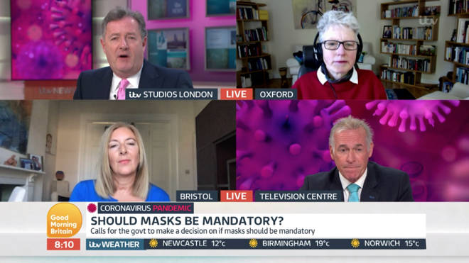 Dr Hilary questioned whether people wearing masks are being given a false sense of security