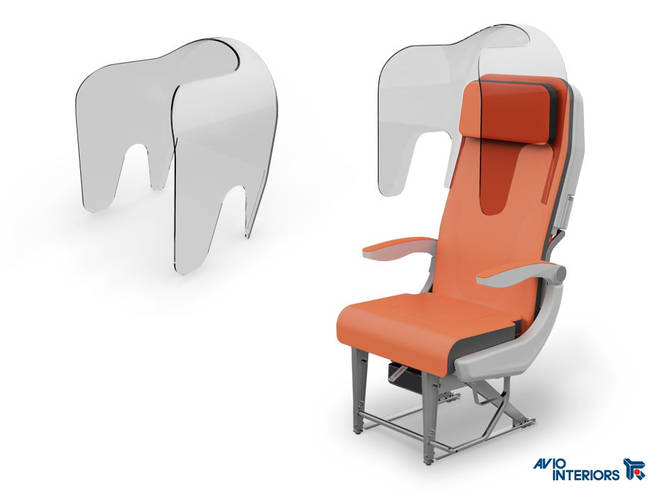 Economy seats could have plastic 'hoods'