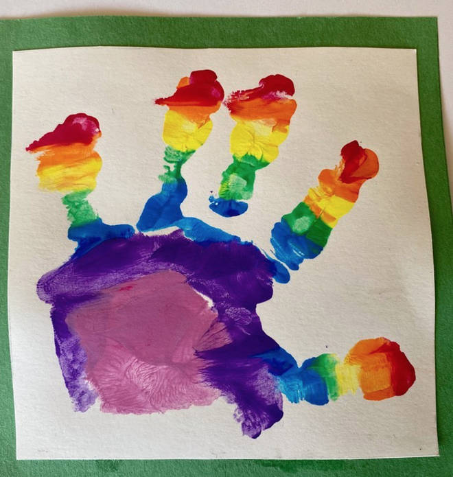 Prince Louis honoured to NHS with the rainbow art