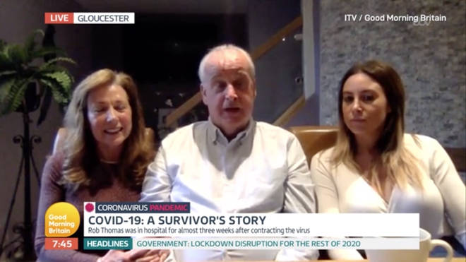 Rob shared his story on GMB today