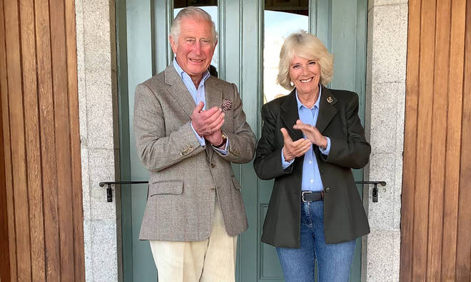 Charles and Camilla also joined in