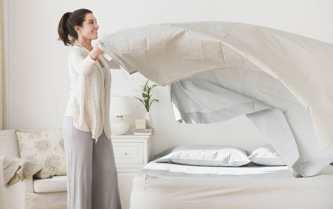 As well as hoovering mattresses on both sides weekly, you should also be cleaning your bedding regularly on a 60 degree wash