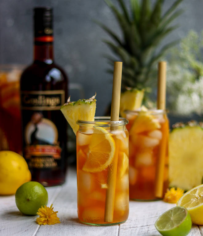 Rum punch gets an English garden glow-up with this recipe