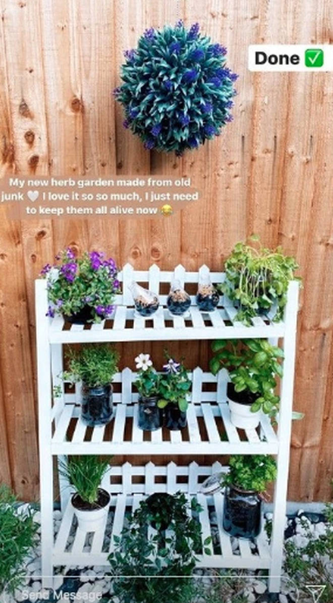 Stacey Solomon revealed her impressive herb garden