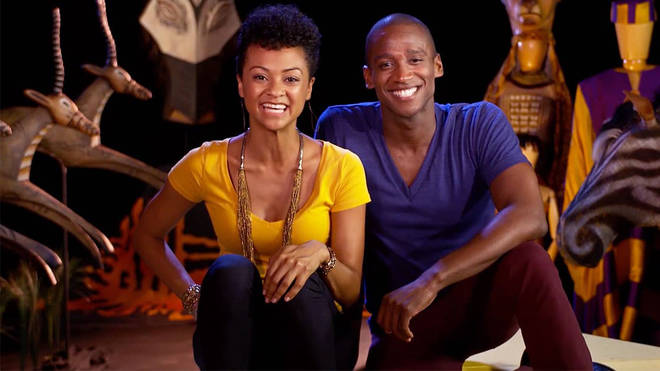 Jelani Remy and Syndee Winters from Broadway's The Lion King