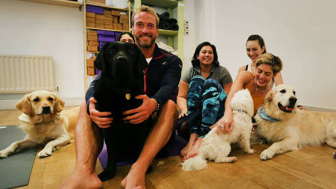 Ben Fogle tries dog yoga in the new series