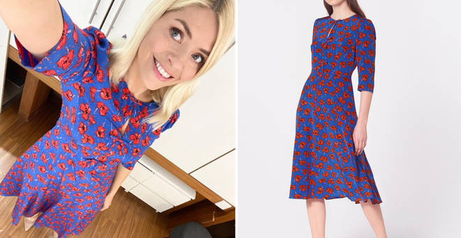 Holly Willoughby's poppy print dress is £295