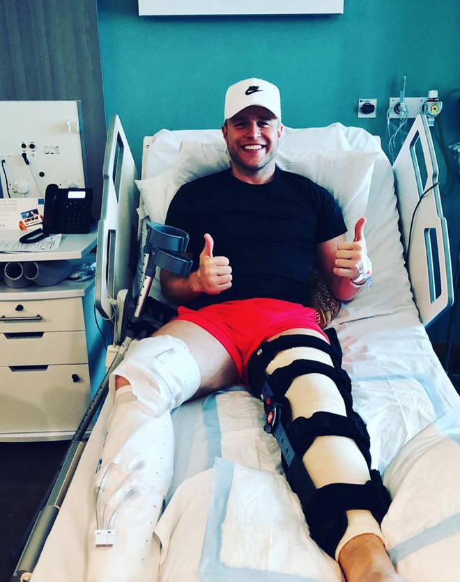 Olly Murs underwent knee surgery back in June 2019