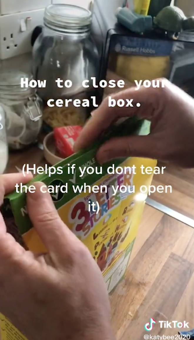 This cereal box hack is a game changer
