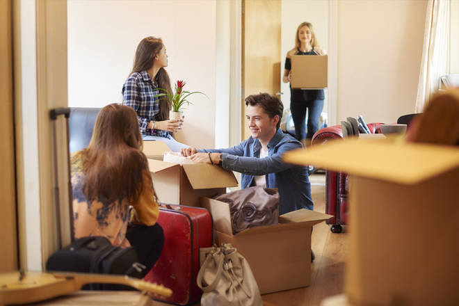Those moving out of accommodation are still paying