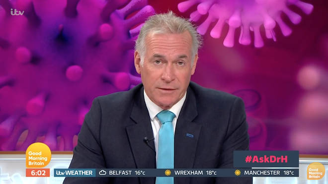 "Dr Hilary told Good Morning Britain viewers wearing a face mask ""makes sense"" amid the coronavirus pandemic"