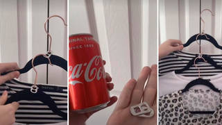 Woman shares 'genius' wardrobe space-saving hack using only can ring pulls