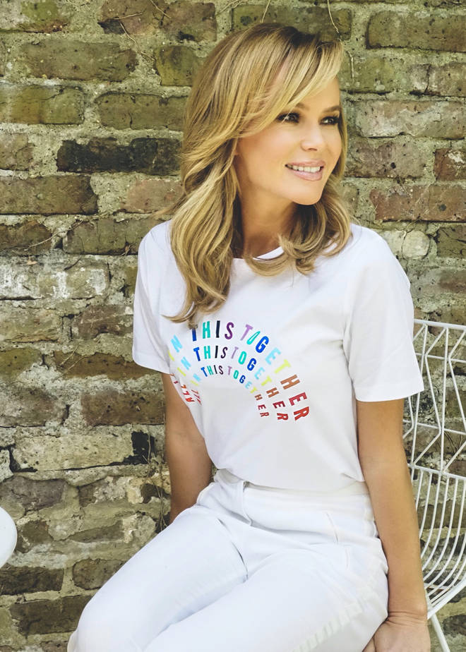 Amanda models one of M&S charity T-shirts