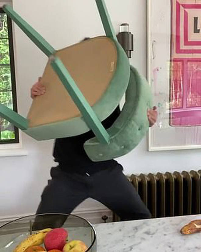 Ant then picks up his chair to throw at Dec