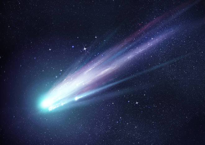 Comet Swan is said to have a green glow and a blue tail