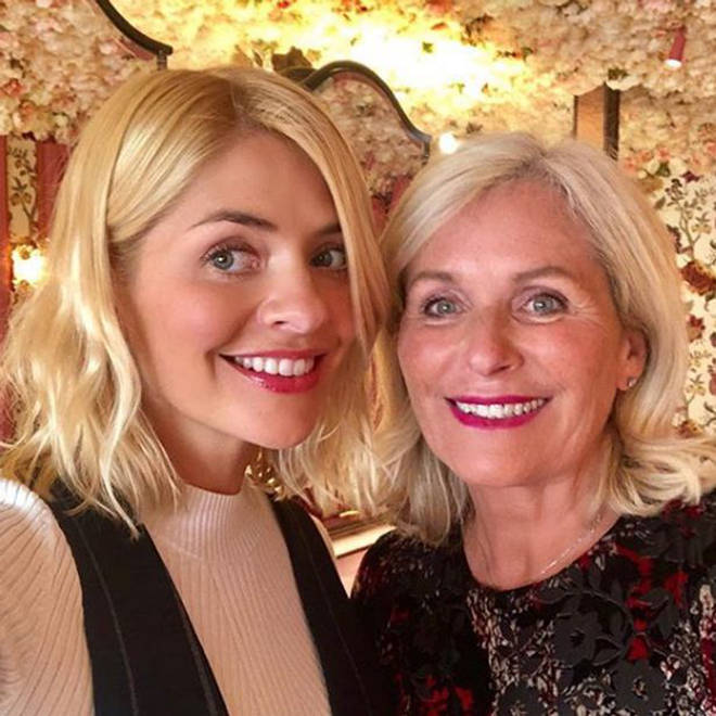 Holly Willoughby sometimes shares photos of her mum on Instagram