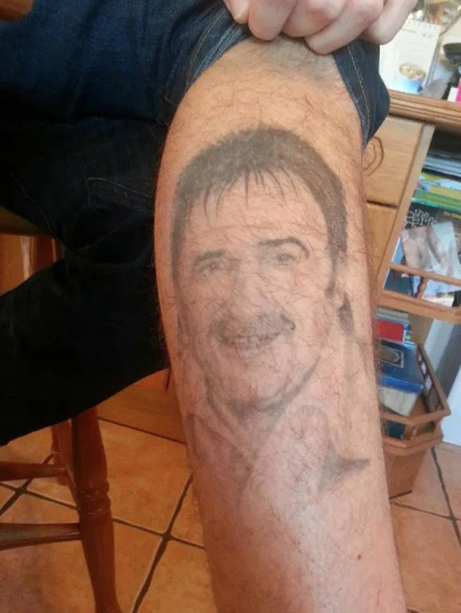Paul Chuckle's son has a tattoo of his dad