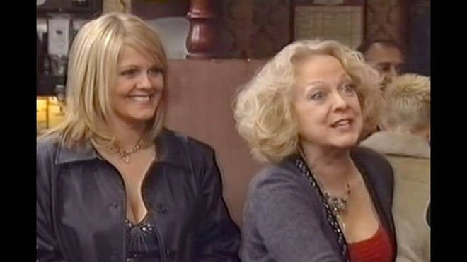 Bev Unwin and on-screen daughter Shelley Unwin on Coronation Street