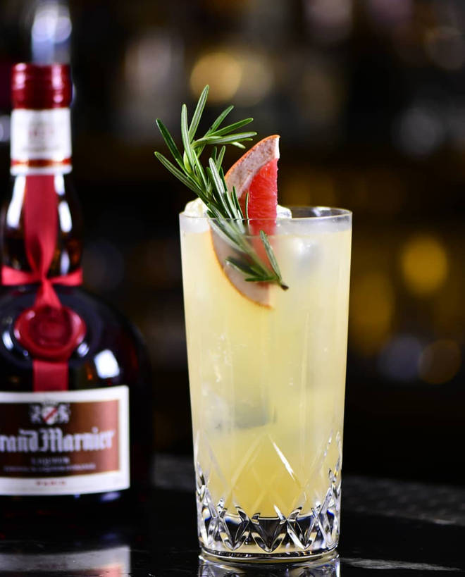 The Grand Marnier Grand Collins is a real treat